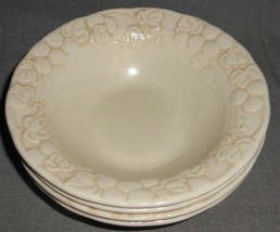 Set (4) Metlox ANTIQUE GRAPE PATTERN Cereal Bowls MADE IN CALIFORNIA - $39.59