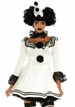 Leg Avenue Pierrot Clown Sexy Gothic Dress Adult Womens Halloween Costume 86658 image 1