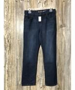 The Children's Place NWT Denim Jeans Boys Size 14H Straight Dark Rinse - $16.82