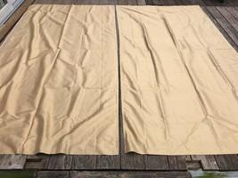 Set of 2 Pottery Barn Gold Tan 100% Dupioni Silk Long Curtains 50x96 - $118.75