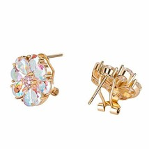 Rose Gold Earrings for Women - Cubic Zirconia Earrings with Clip Back 18... - $23.97