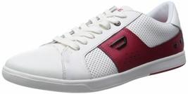 Diesel Men's Eastcop Gotcha Fashion Sneaker 8 H White/Tango Red - $79.19