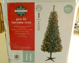 6 foot pre lit Tacoma artificial Christmas tree w/multi colored lights - $34.65