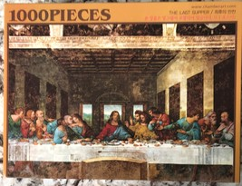 Chamber Art Jigsaw Puzzle The Last Supper 1000 Pieces 28.9 x 20 in. with Poster image 3