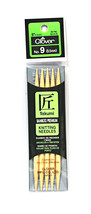 Clover Takumi Bamboo 5 Inch Double Point Knitting Needle Size 9 - $14.36