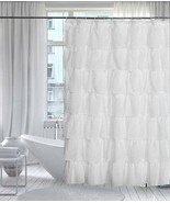 """Gypsy Shabby Chic Ruffled Shower Curtain, 70"""" wide by 72"""" long, White, L... - $24.99"""