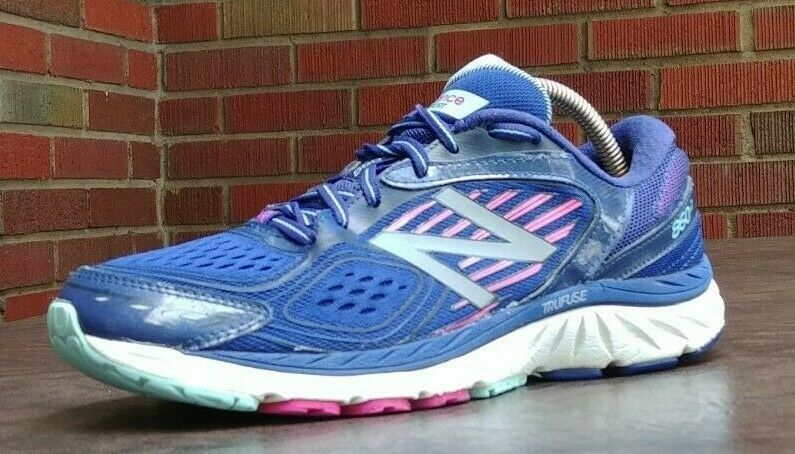 WOMENS NEW BALANCE 860 V7 RUNNING SHOES SZ 9 USED NURSE GYM W860BP7 SNEAKERS