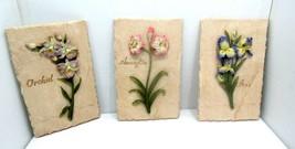 Home Interiors Set of Three Floral  Plaques Amarallis, Orchard & Iris 10... - $17.77