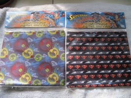 2 DC Comics Warner Brothers Superman World Hero Fabric Book Covers Sox S... - $8.00