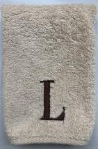 "Avanti Premier Egyptian Linen Hand Towel Block Monogram Initial  L - 11""... - $5.00"