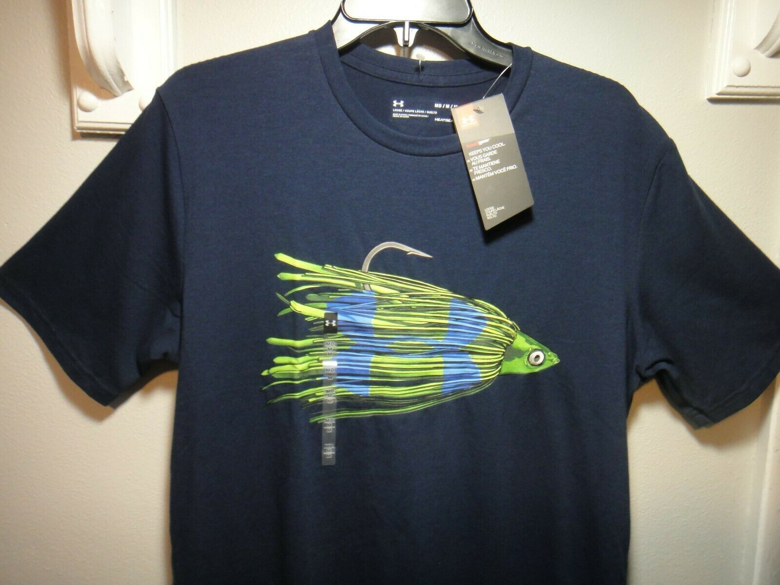 Under Armour Mens Fish Short Sleeve T-Shirt