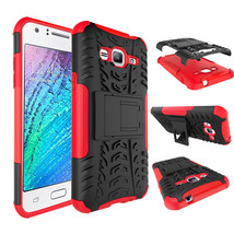 Dual Layer Hybrid Stand Cover Case For Samsung Galaxy Express Prime - Red  - $4.99