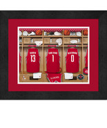 Personalized Houston Rockets 12 x 16 Locker Room Framed Print - $63.95
