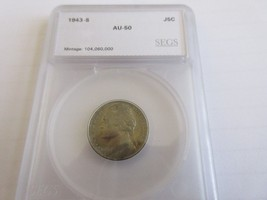 1943-S , Jefferson Nickel , Silver , AU - $6.00