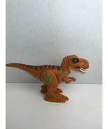 Robo Alive Attacking Volcano Fire T-Rex Dinosaur Walks Roars Tested Works - $17.81