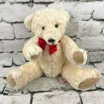 Vintage 1994 Dakin Teddy Bear Plush Cream Classic Jointed Curly Fur Stuf... - $19.79