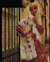 Vtg Knit Crochet Poncho Cape Stole Berets Toques Bed Socks Pattern - $12.99