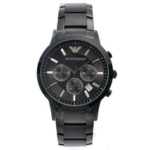 Emporio Armani AR2453 Classic Mens Black Chronograph Watch - 2 Years Warranty - £88.11 GBP