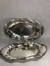 Pair Silverplate serving Plate platter oval oblong Superior Sheffield Co... - $35.63