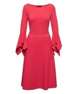Banana Republic Red Knit Handkerchief 3/4 Sleeve Fit Flare Sweater Dress XS S  - $69.99