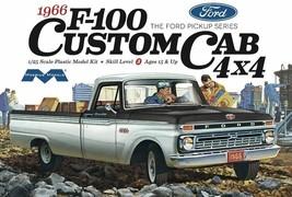 Moebius Models 1966 Ford F-100 Custom Cab 4x4 Pickup 1/25 Scale Model Ki... - $30.69