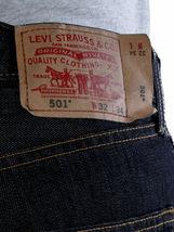 Levi's 501 Men's Original Fit Straight Leg Jeans Button Fly Black 501-5808 image 3