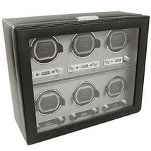 WOLF Viceroy 2.7 6 Piece Six Watch Winder Storage Box 456802 - $1,695.00