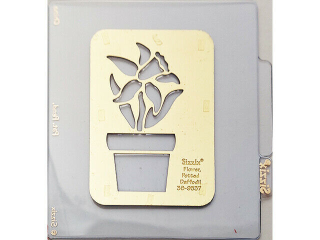 Sizzix Metal Embossing Plate, Potted Daffodil Flower #38-9537