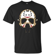 Jason Voorhees Face Black Men's T-shirt Friday The 13th Horror Moive S-3XL - $17.77+