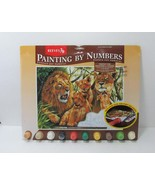New Pride of Lions Paint by Numbers Reeves 16 x 12 2001 Complete Kit Ins... - $14.50