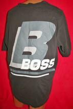 Vintage 90s Hugo Boss Huge Back Graphic T-SHIRT Xxl 2XL Hip Hop Rap Fashion Vtg - $39.59