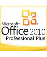 Microsoft Office 2010 Professional Plus Key With Download 32/64 Bit - $236,88 MXN