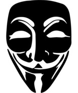 """Anonymous Mask DECAL Height 5"""" OR 10"""" OR 12"""" STICKER - $5.93+"""