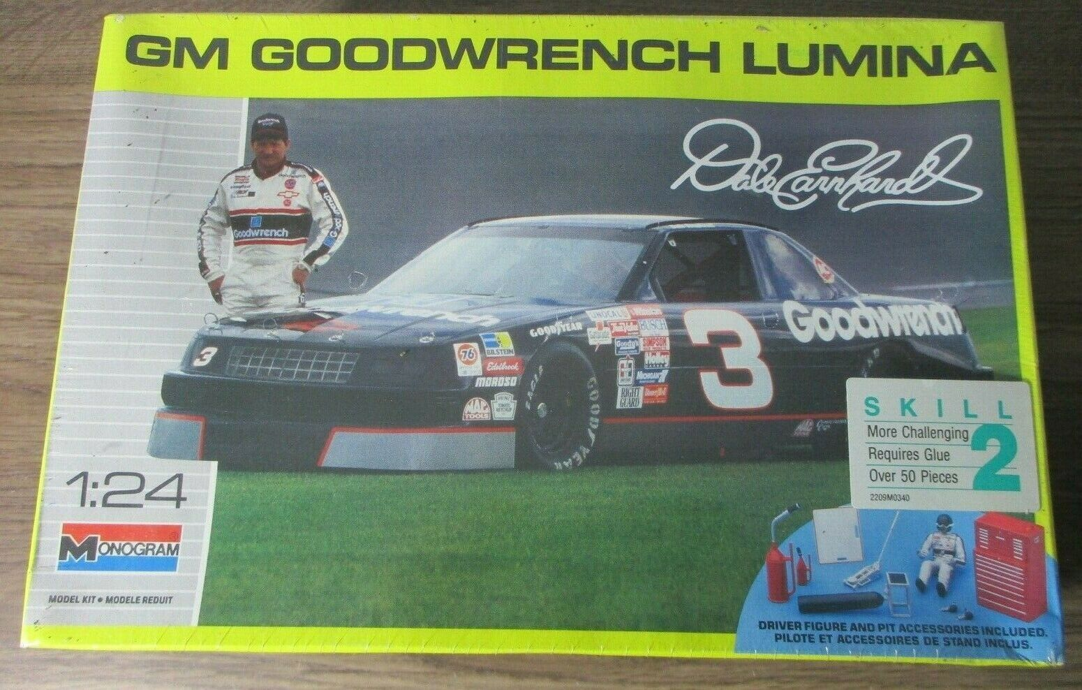 Primary image for MONOGRAM #2927 DALE EARNHART 1990 LUMINA GOODWRENCH 1:24 SCALE MODEL KIT NIP!!
