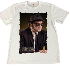 Jake Blues Blues Brothers White Wicking T-Shirt w American Flag Car Coaster - $14.80+