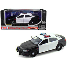 Ford Police Interceptor Concept Car Unmarked Black/White 1/24 Diecast Mo... - $31.10