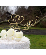 Elegant Love Cake Topper, Vow Renewal, Engagement Party, Pick Your Color - $35.00