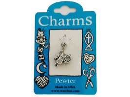 Watch Us Charms Silver Saddle Charm