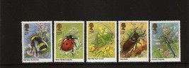 GREAT BRITAIN UK INSECTS Set of 5 1985 MNH Scott 1098-1102 SG 1277-81 - $1.28