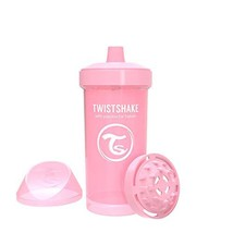 Twistshake Kid Cup 360ml/12oz 12+m Pastel Pink - $10.53