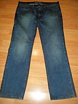Nwot Kenneth Cole Mens Stretch Denim Straight Leg J EAN S Size 34/30 - $38.69