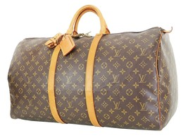Authentic LOUIS VUITTON Keepall 55 Monogram Canvas Duffel Bag #35533B - $429.00