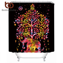 BeddingOutlet Elephant Shower Curtain Bohemian Print Waterproof Exotic B... - $32.90