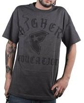 Famoso Stars Y Correas Hombre Gris Carbón Higher Ed Educación Camiseta Nwt