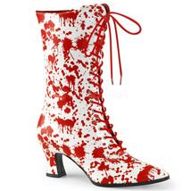 VIC120BL/W-R Women's Old Fashioned Victorian Blood Splatter Zombie Costu... - $42.70