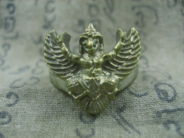 HOLY BLESSED PAYA KRUT KING GARUDA MAGIC RING TOP LUCK RARE THAI BUDDHA ... - $19.99