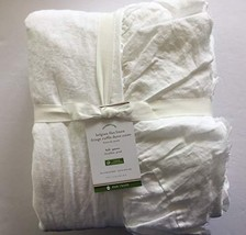 Pottery Barn Belgian Flax Linen RAW Edge Ruffle Duvet Cover Full/Queen ~White~ - $199.00