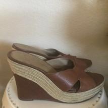 Jessica Simpson espadrilles wedge tan sandals - $23.76