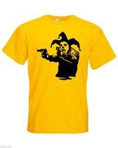 Mens T-Shirt Banksy Street Art Graffiti, Joker Clown & Pistols, Jester Tshirts - $24.74