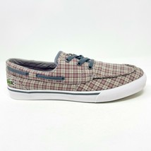 Lacoste Keel Canvas Dark Red Gray Loafer Boat Casual Shoes - $64.95